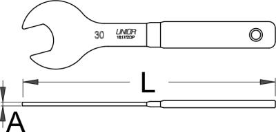 UNIOR Konusschlüssel 30mm